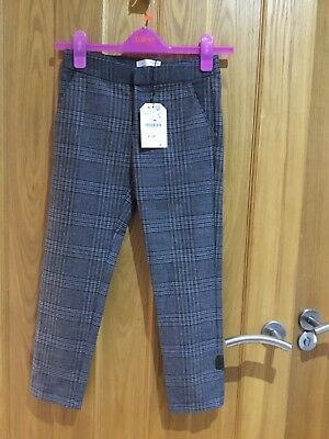 BNWT Zara Girls Trendy Tartan Trousers Age 9-10