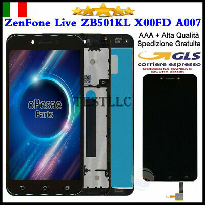 Lcd Display Touch Screen Vetro Per Asus Zenfone Live Zb501Kl A007 Schermo+Frame