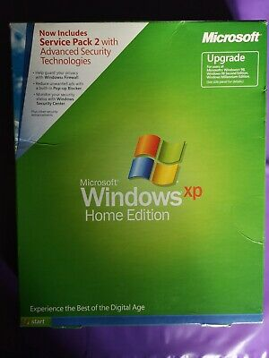 Microsoft Windows Xp Home Edition Upgrade Boxed Retail 2002 Version With Key