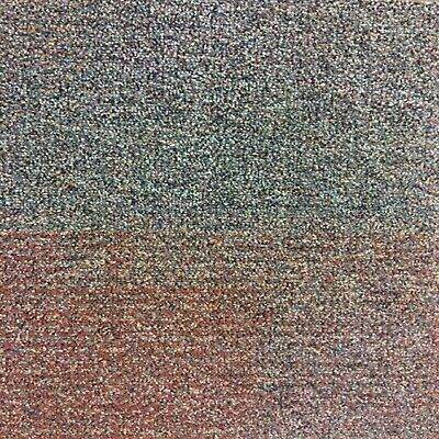 Interface Red Blue Mosaic Carpet Tiles. Commercial Domestic Use