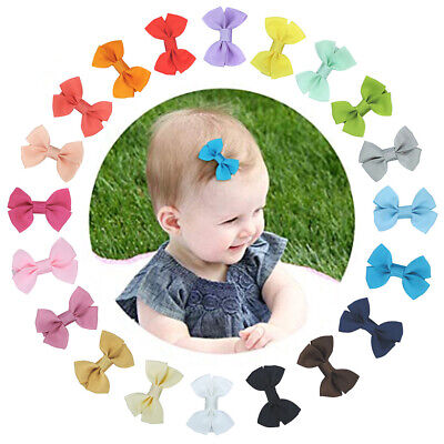 SN_ 1Pc Fancy Baby Girls Mini Bow Handmade Hair Clip Hairpin Barrette  Dynamic