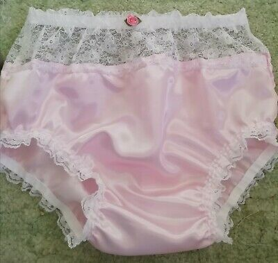 Cd Adult Baby Sissy Pink Satin Knickers