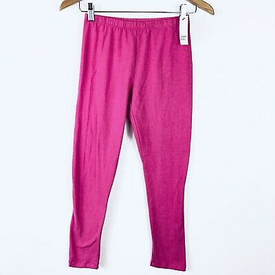 NWT Crown & Ivy Girls Size XL 16 Pull On Stretchy Leggings Solid Pink School New
