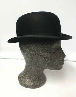 Vintage Battersby of London Bowler Hat - Size 6 7/8 - 55cms (Sax)