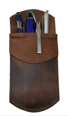 Durable Leather Pocket For Pen Pencil Organizer Protector Leather Pouch