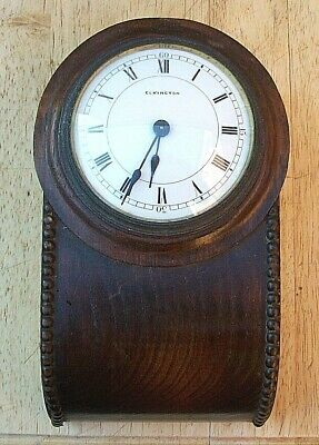 Small Swiss Made Drop Dial Wall Clock circa 1920's
