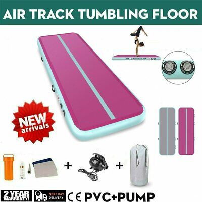20FT Airtrack Air Track Floor Inflatable Gymnastics Tumbling Mat GYM w/ Pump