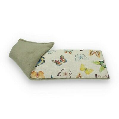Lavender or Unscented Natural Cotton & Fleece Exotic Butterflies Wheat Bag