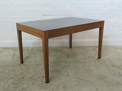 Mid 20th Century 1960s/70s Vanson Small Teak & Black Laminated Side or End Table