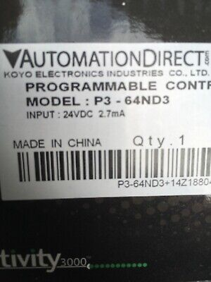 Automation Direct Programmable Controller P3-64Nd3 * New In Box *