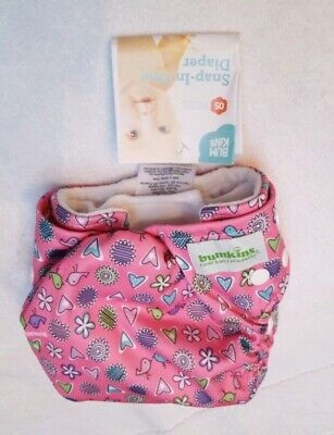 Bumkins Snap-in-One Cloth Diaper, Pink NEW