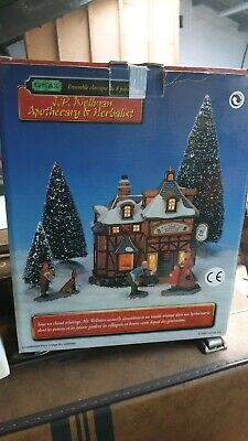 Lemax christmas village j.p. wellman apothecary & herbalist boxed
