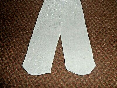 new F+F Girls silver sparkly / glittery party tights 0 - 3 - 6 MONTHS