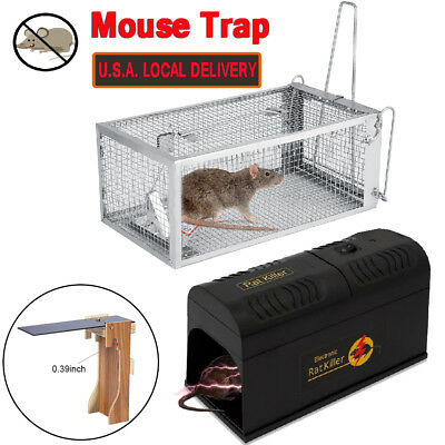 1-10 ElectronicTrap Killer Rodent Animal Mouse Trap Mice Rat Catch Hamster Cage