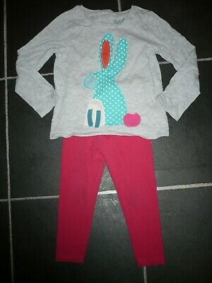 Girls long sleeved top & leggings age 3-4 (NEXT & evie)