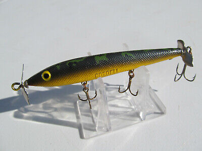 Cotton Cordell Boy Howdy Fishing Lure Vintage Top Water Clear Blue Combine Ship