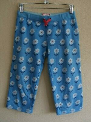 Mini Boden Light Blue Jersey Cotton Cropped Floral Trousers Age 10 years
