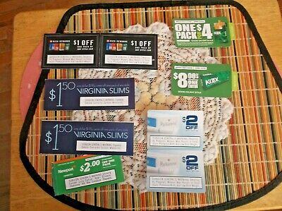 Cigarette Coupons Good Usa Nationwide Kool,Parliament,Newport More $23.00 Value
