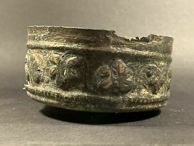 Very Beautiful & Delicate Ancient Roman Bronze Bowl With Fine Detail Circa 100Ad