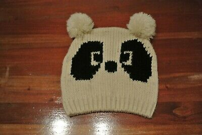 Baby girls hat with pom poms approx age 1-2 years