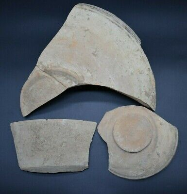 Group of 3 large ancient Bronze Age Indus Valley culture pottery fragments