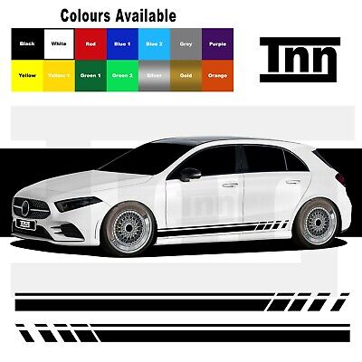 Side Stripe Stickers Graphics For Mercedes Benz A Class AMG Edition 1 A45 Merc