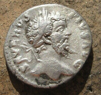 Antique Roman Silver Coin 193-211 AD Ancient Imperial Rome Emperor Septimius Sev