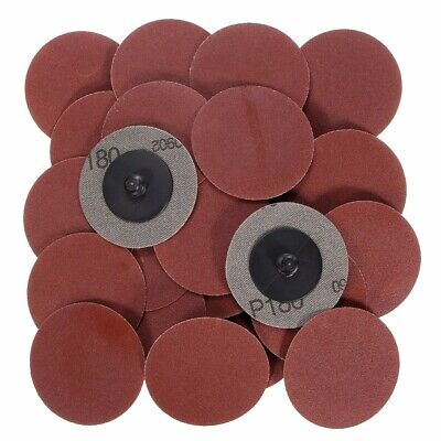 25pcs 2 Inch 180 Grit Roll Lock Sanding Discs with Holder R-Type Abrasive Tool