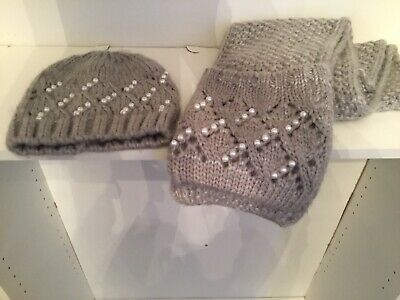 Hat And Scarf Set Grey