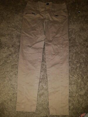 Girls New look Generation Stone colour chino trousers....age 10 years