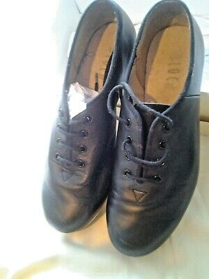 Bloch tap shoes student jazz tap leather soles and uppers techno tap plates SZ 5