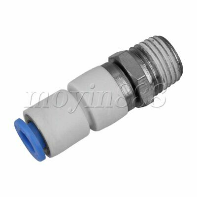 """Straight Pneumatic Tube Fitting Connector BSPT 1/4"""" Thread for 6mm Tube"""