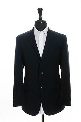 Hickey Freeman Navy Blue Tonal Stripe Milburn Suit 44S 13149