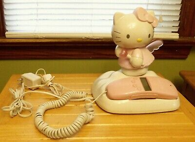 Hello Kitty  Pink Working Corded Telephone