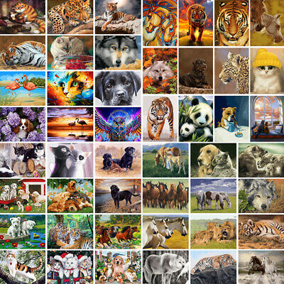 DIY Paint By Number Kit Digital Oil Painting Art Home Wall Decor Animals Gift