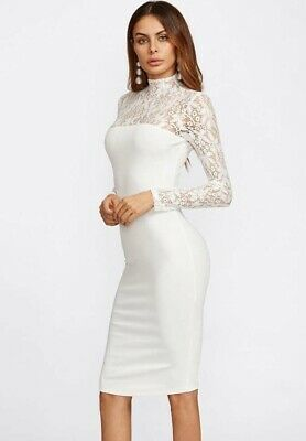 Classy Bohemian Style Lace White Special Occaision Engagement Dress