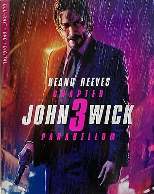 JOHN WICK CHAPTER 3 ~ PARABELLUM ~ Blu-Ray + DVD + Digital *New *Factory Sealed