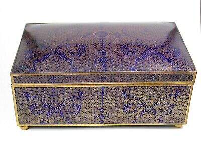 A huge late Qing or republic  hug Chinese cloisonne Tobacco Cigar Box 616B