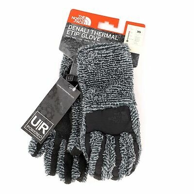 The North Face ETIP Women's Denali Thermal Gloves Size: X-Small, Mid Grey/Black