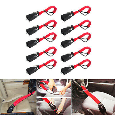 10x Steering Wheel Lock Strap Vehicle Anti-Theft Device Fits Most Cars