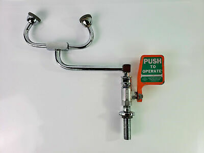 Water Saver Faucet Company Emergency Eyewash Faucet, Right Hand Deck Mounted