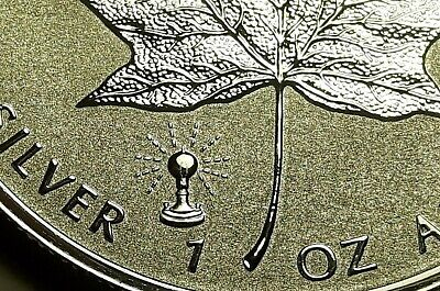 2018 Canada EDISON Light Privy Silver Maple Leaf 1 oz. 0.9999 Silver Coin RCM