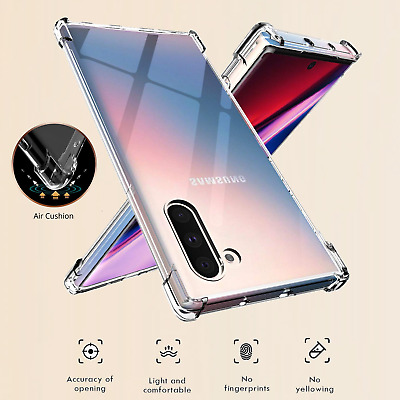 Samsung Galaxy Note10 /10+ Plus 5G  Clear Phone Case Heavy Duty Shockproof Cover