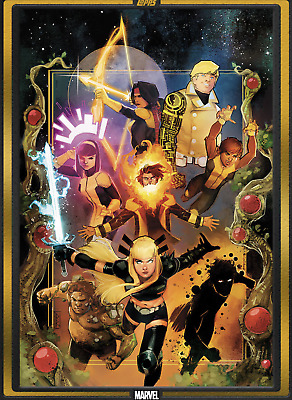 Topps Marvel Collect Card Trader Comic Book Day New Mutants #1 Gold 1000cc