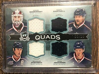 COLUMBUS BLUE JACKETS 2014-15 The Cup Quads Jersey SP #06/10 DUBINSKY, JOHANSEN