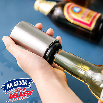 Pocket Opening Stainless Steel Bottle Opener Push Cap Soda Down Beer Automatic