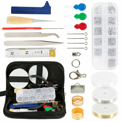 25x Jewelry Findings Making Supplies Lot Necklace Repair Tools Kit DIY Craft Set