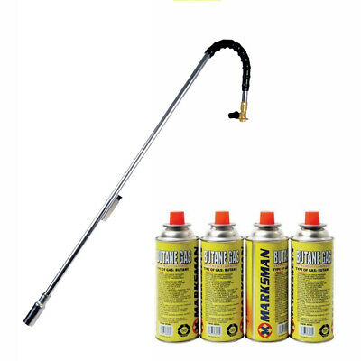87cm Weed Burner Moss Fungus Killer Wand Butane Gas Blowtorch Garden Outdoor