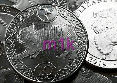 2019 Isle of Man 10p. MANX CAT. Moggy. Pussycat.Ten Pence. From Sealed Bank Bag.