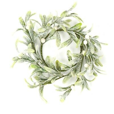 Christmas Door Decoration - 20cm Round Mistletoe Wreath